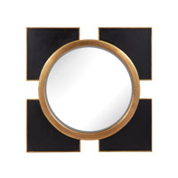 Dimond Home Coined Regency Mirror in Black and Gold Mango Wood and Brass and Glass 985-004