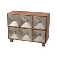 Lazy Susan by Dimond Lighting Spencer Chest in Natural Mango and German Silver Mango Wood and German Silver 985-010