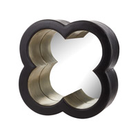 Dimond Home Wide Belt Flower Mirror in Black And Silver Mango Wood and German Silver 985-017