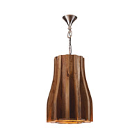 Retro 6 Light 17 inch Natural Mango Pendant Ceiling Light