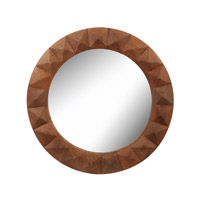 Dimond Home Diamond Cut Mirror in Natural Mango Mango Wood and Glass 985-019