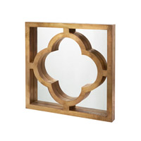 Dimond Home Quatrefoil Mirror in Gold Mango Wood and Brass  985-024