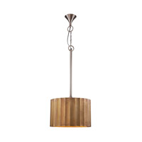 Dimond Lighting Clad Ribbed 1 Light Pendant in Gold Mango Wood and Brass 985-026