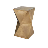 Dimond Home Faceted Accent Table in Gold Wood and German Silver 985-042