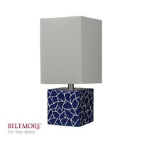 Dimond Lighting Cosmos 1 Light Table Lamp in Navy Cosmos and White D2401