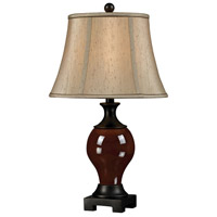Dimond Lighting Biltmore For Your Home  Ashland 1 Light Table Lamp in Oxblood and Bronze D2404