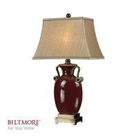 Dimond Lighting Biltmore For Your Home  Historic 1 Light Table Lamp in Rosebury Red With Antique Brass D2405