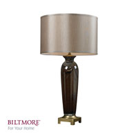 Dimond Lighting Biltmore For Your Home  Delaware 1 Light Table Lamp in Coffee Swirl and Antique Brass D2406
