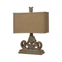Dimond Lighting Sutherlin 1 Light Table Lamp in Aged Wood D2413