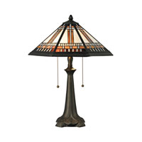 Dimond Lighting Hollander 2 Light Table Lamp in Tiffany Bronze D2425