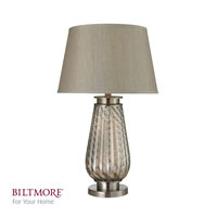 Dimond Lighting Biltmore For Your Home  Moro 1 Light Table Lamp in Smoked Glass and Brushed Steel D2438