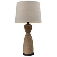 Wrapped Rope 32 inch 150 watt Natural Rope and Dark Brown Table Lamp Portable Light in Incandescent