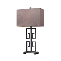 Greek Key 26 inch 100 watt Dark Bronze Table Lamp Portable Light in Incandescent