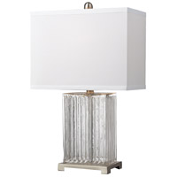 Dimond Lighting Ribbed Glass 1 Light Table Lamp in Clear Color Glass and Metal D140