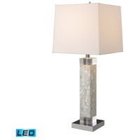 Dimond Lighting D1412-LED Luzerne 32 inch 9.5 watt Mother Of Pearl Table Lamp Portable Light in LED, 3-Way