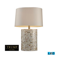 Dimond Lighting Trump Home Central Park Sunny Isles 1 Light Table Lamp in Mother Of Pearl D1413-LED