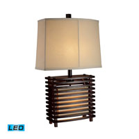 Dimond Lighting Burns Valley 2 Light Table Lamp in Espresso Wood D1419-LED
