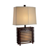Dimond Burns Valley 2 Light Table Lamp in Espresso Wood D1419