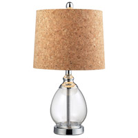 Dimond Lighting Signature 1 Light Table Lamp in Clear Glass and Metal D142