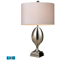 Waverly 28 inch 13.5 watt Chrome Plated Glass Table Lamp Portable Light in LED