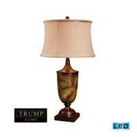Dimond Lighting Trump Home Westchester Bryant Park 1 Light Table Lamp in Tobacco Leaf D1429-LED