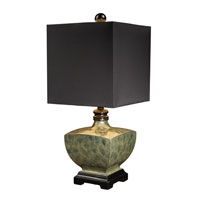 Dimond Corsica Table Lamp in Harrington Green with Milano Black Shade D1430 photo thumbnail