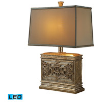 Dimond Lighting Laurel Run 1 Light Table Lamp in Courtney Gold D1443-LED