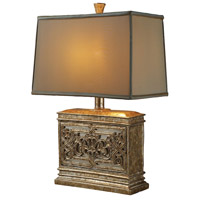 Laurel Run 25 inch 100 watt Courtney Gold Table Lamp Portable Light in Incandescent