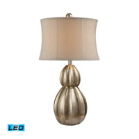 Dimond Lighting Marion 1 Light Table Lamp in Antique Silver Leaf D1444-LED