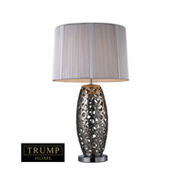 Dimond Trump Home Varick 1 Light Table Lamp in Alisa Silver D1446