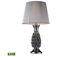 Dimond Lighting D1447-LED Roseto 22 inch 9.5 watt Alisa Silver Table Lamp Portable Light in LED