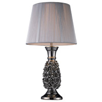 Dimond Roseto 1 Light Table Lamp in Alisa Silver D1447