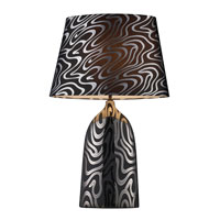Dimond Marietta Table Lamp in Silver and Black with Silver and Black Shade and Silver Foil Liner D1449P