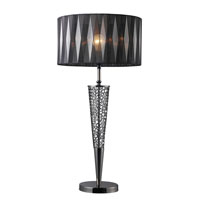 Glendon 31 inch 150 watt Black Nickel Table Lamp Portable Light