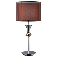 Dimond Dunbar 1 Light Table Lamp in Chrome and Gold Plate D1467