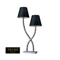 Dimond Trump Home Park Avenue 2 Light Table Lamp in Chrome D1473