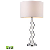 Armagh 30 inch 13.5 watt Clear Crystal And Chrome Table Lamp Portable Light in LED