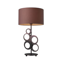Dimond Lighting D1484 Addison 27 inch 150 watt Chocolate Plating Table Lamp Portable Light