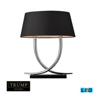 Park East 23 inch 13.5 watt Chrome And Black Table Lamp Portable Light in LED, Trump Home