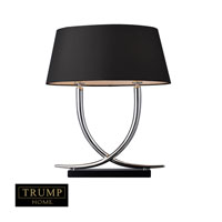 Park East 23 inch 60 watt Chrome and Black Table Lamp Portable Light in Incandescent, Trump Home