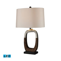 Dimond Lighting Irvona 1 Light Table Lamp in Silver Plating And Bronze D1491-LED