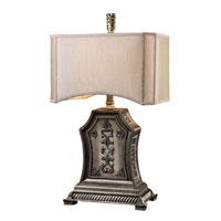 Dimond Ridgway Table Lamp in Renwick Silver with Cream Shade and Cream Liner D1500