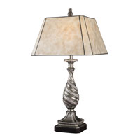 Dimond Logan Table Lamp in Windsor Silver with Mica Silver Shade D1505