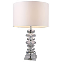Dimond Lighting D1512 Madison 23 inch 150 watt Clear Crystal Table Lamp Portable Light in Incandescent