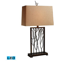 Dimond Lighting D1518-LED Belvior Park 33 inch 13.5 watt Aria Bronze And Iron Table Lamp Portable Light in LED photo thumbnail