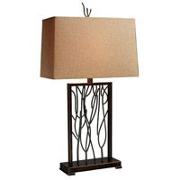 Belvior Park 33 inch 150 watt Aria Bronze and Iron Table Lamp Portable Light in Incandescent