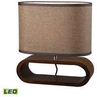 Dimond Lighting D153-LED Oval 12 inch 9.5 watt Bennford Natural Stain Table Lamp Portable Light in LED