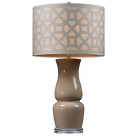 Dimond Lighting D158 Signature 27 inch 100 watt Ballygowan Taupe Table Lamp Portable Light in Incandescent