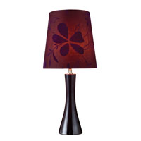 Cressona 25 inch 100 watt Black Berry Table Lamp Portable Light