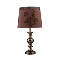 Dimond Lanesboro 1 Light Table Lamp in Coffee Plating D1601
